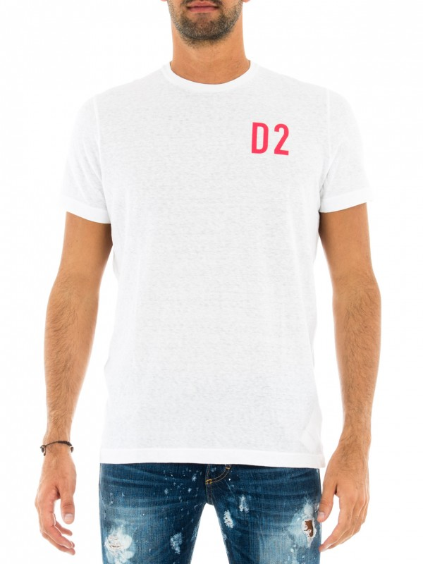 DSQUARED2 T-SHIRT UOMO BIANCA