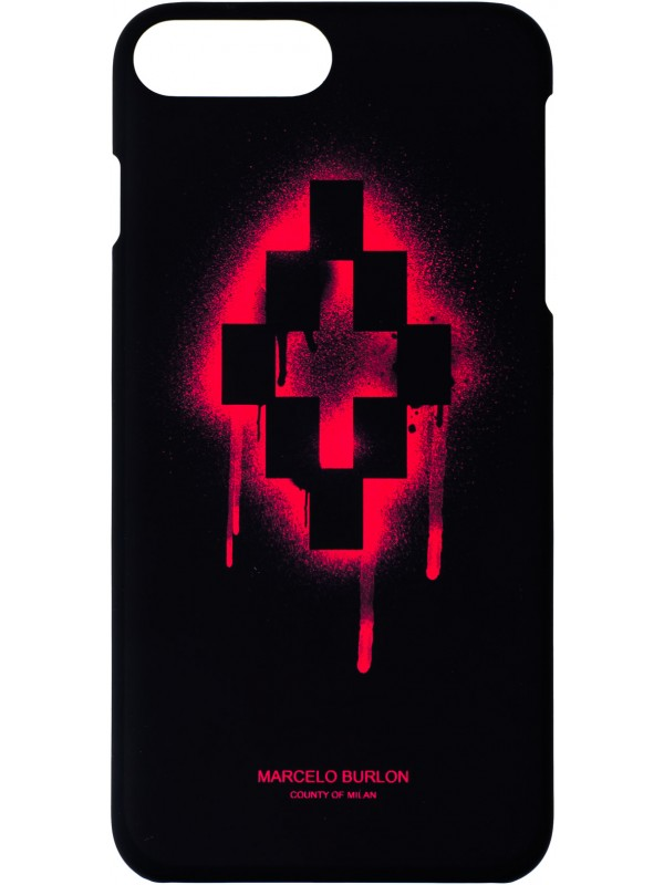 MARCELO BURLON COVER WITH RED LOGO CROSS IPHONE 6/7/8 PLUS