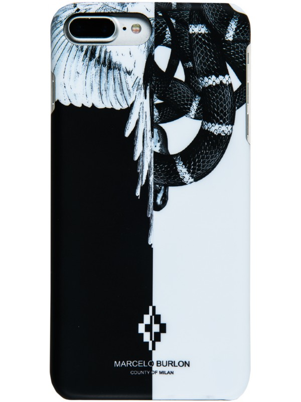 MARCELO BURLON COVER WITH BLACK AND WHITE SNAKES IPHONE 6/7/8 PLUS
